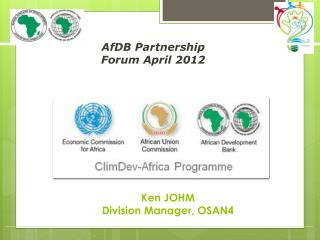 AfDB  Partnership Forum April 2012