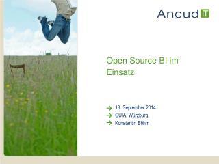 Open Source BI im Einsatz