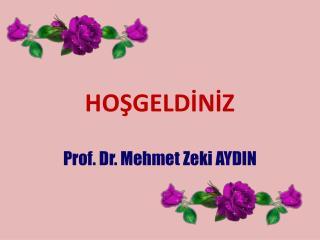 HOŞGELDİNİZ Prof . Dr. Mehmet Zeki AYDIN