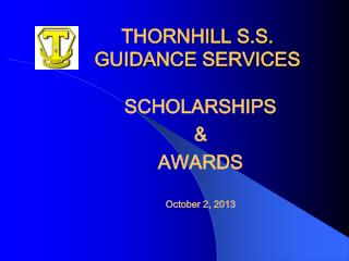 THORNHILL S.S. GUIDANCE SERVICES