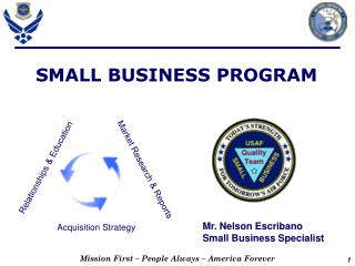 Mr. Nelson Escribano    Small Business Specialist