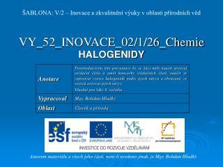 VY_52_INOVACE_02/1/26_Chemie