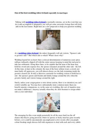 Get wedding services in Ireland