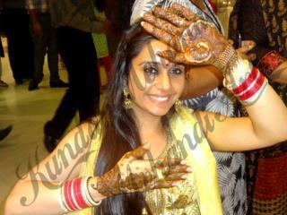 Diwali,Karva Chauth,Wedding Fusion Kundan Mehandi Design