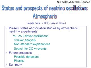 Present status of oscillation studies by atmospheric neutrino experiments