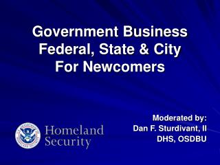 Government Business  Federal, State & City  For Newcomers