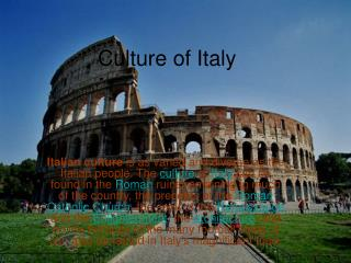 Culture of Italy