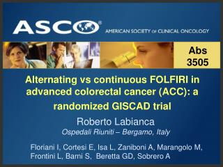 Alternating vs continuous FOLFIRI in advanced colorectal cancer (ACC): a randomized GISCAD trial
