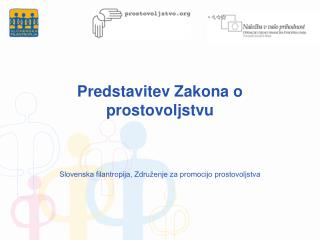 Predstavitev Zakona o prostovoljstvu