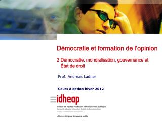 Prof. Andreas Ladner Cours à option hiver 2012