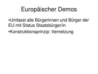 Europäischer Demos