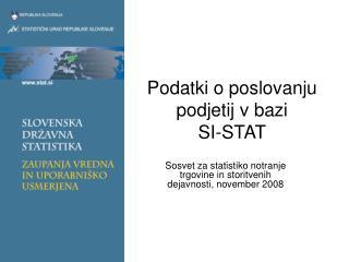 Podatki o poslovanju podjetij v bazi  SI-STAT