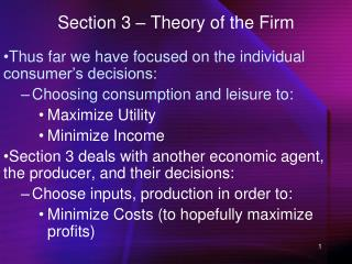 Section 3   Theory of the Firm