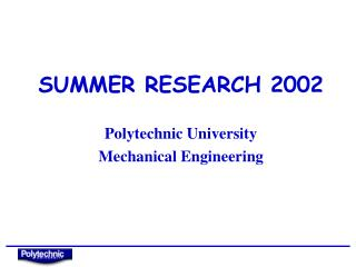 SUMMER RESEARCH 2002