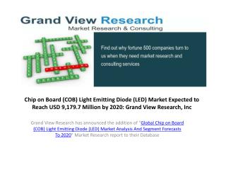 Chip on Board LED Market to 2020:Grand View Research,Inc