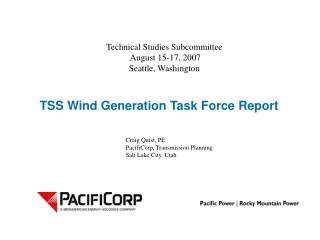 TSS Wind Generation Task Force Report