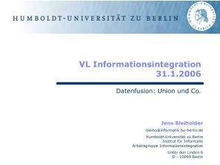 VL Informationsintegration 31.1.2006
