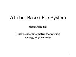 A Label-Based File System