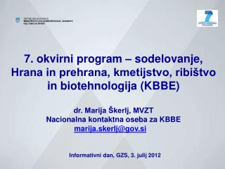 7. okvirni program (2007-2013) - struktura