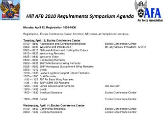 Hill AFB 2010 Requirements Symposium Agenda