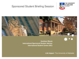 Sponsored Student Briefing Session