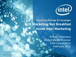 B2B Marketing Net Breakfast Inside Intel Marketing
