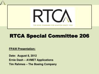 RTCA Special Committee 206