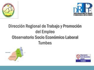 Dirección Regional de Trabajo y Promoción del Empleo Observatorio Socio Económico Laboral Tumbes