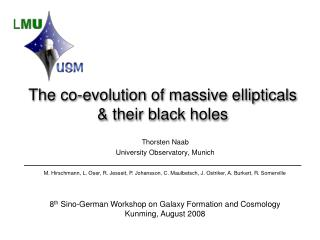 The co-evolution of massive ellipticals  & their black holes