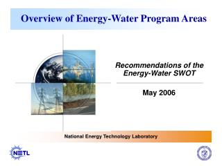 Overview of Energy-Water Program Areas