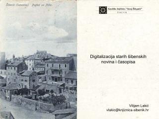 Digitalizacija starih šibenskih novina i časopisa