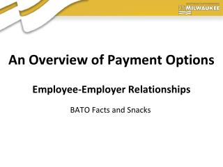 An Overview of Payment Options  Employee-Employer Relationships