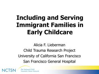 Including and Serving Immigrant Families in Early Childcare