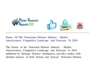 Future Of The Venezuelan Defense Industry - Market Attractiv