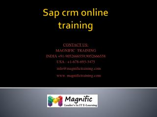 sap crm online training in mumbai,pune