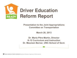 Driver Education Reform Report