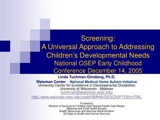 Linda Tuchman-Ginsberg, Ph.D.