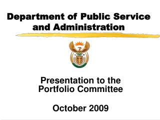 Department of Public Service and Administration