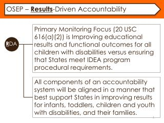 OSEP –  Results -Driven Accountability