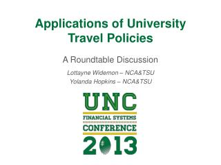 Applications of University Travel Policies