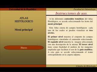 Cátedra de Histología.