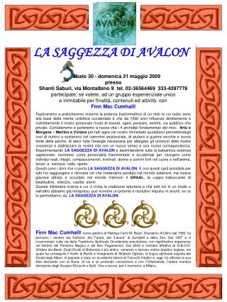 LA SAGGEZZA DI AVALON