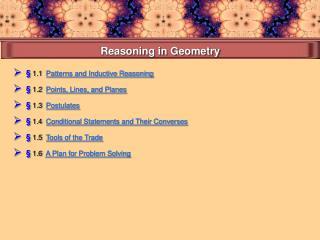 Reasoning in Geometry