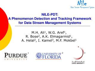 NILE-PDT:  A Phenomenon Detection and Tracking Framework for Data Stream Management Systems