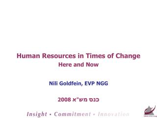 Human Resources in Times of Change Here and Now