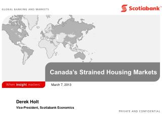 Canada�s Strained Housing Markets