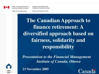 Presentation to the Financial Management  Institute of Canada, Ottawa