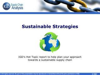 Sustainable Strategies
