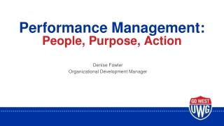 Performance Evaluation Program