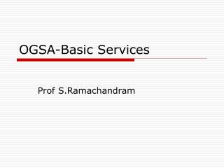 OGSA-Basic Services